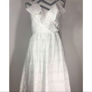 274c3f5673f Betsey Johnson Dresses - Betsy Johnson White Eyelet Maxi Dress